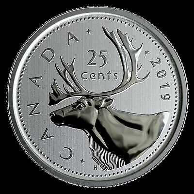 2019 Canada 25 cent Quarter coin Specimen finish from set  - COIN ONLY  in stock