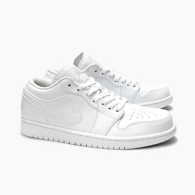 fcc3a2dab677e1 NEW RARE Nike Air Jordan 1 Low Men s 11.5 Shoes Triple White Leather 553558- 102