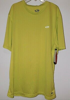 2169f0d65 Champion Advanced Duo Dry Max Mens Highlighter Workout Shirt Size Large New