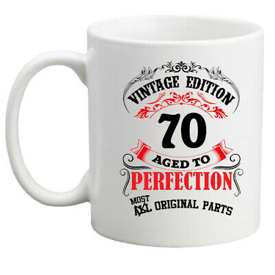 70th Birthday Mug Vintage 70 Years Gift For Him Her