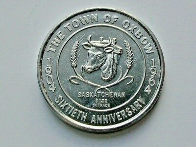 Oxbow CANADA 1904-1964 60th Anniversary Trade Dollar Coin Without Counterstamp