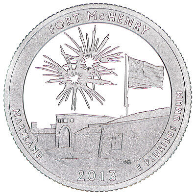2013 S Parks Quarter ATB Fort McHenry Gem Proof Deep Cameo 90% Silver US Coin