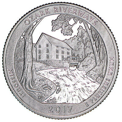 2017 S Ozark Riverways National Park Quarter ATB Gem Proof DCam CN-Clad Coin