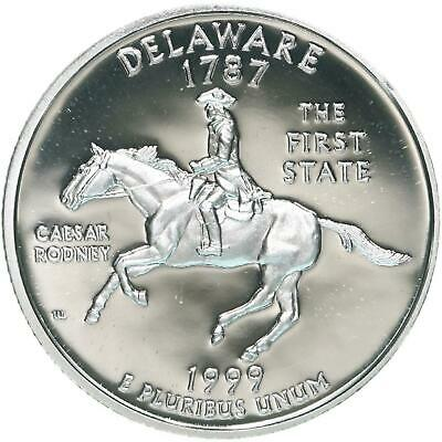 1999 S State Quarter Delaware Gem Proof Deep Cameo 90% Silver US Coin