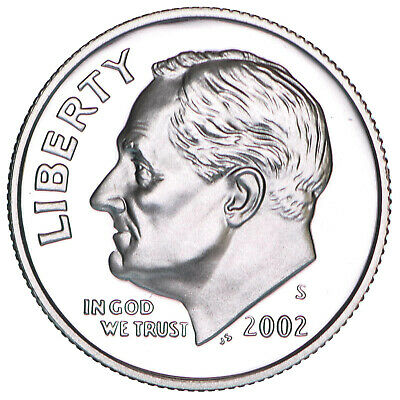 2002 S Roosevelt Dime Gem Deep Cameo CN-Clad Proof US Coin