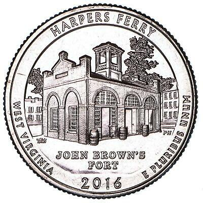 2016 D Parks Quarter ATB Harpers Ferry National Park BU CN-Clad US Coin