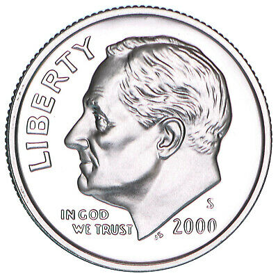 2000 S Roosevelt Dime Gem Deep Cameo CN-Clad Proof US Coin