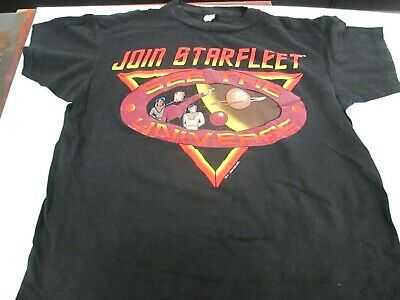 VTG 1993 Star Trek Join Starfleet T Shirt Tagged Wizard T L