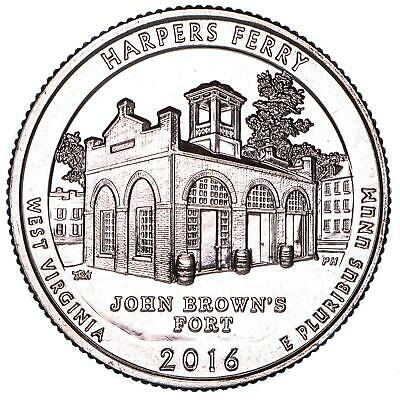 2016 D Parks Quarter ATB Harpers Ferry National Park Choice BU CN-Clad US Coin