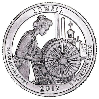 2019 S Lowell National Historical Park 99.9% Silver Quarter ATB Gem Proof