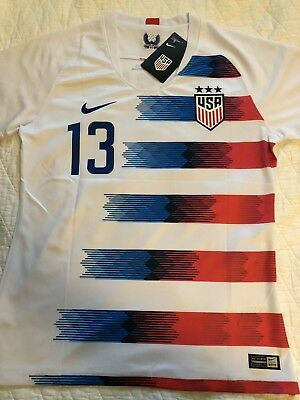 4476e4124 Alex Morgan Jersey  2018 United States National   USA White Womens Small