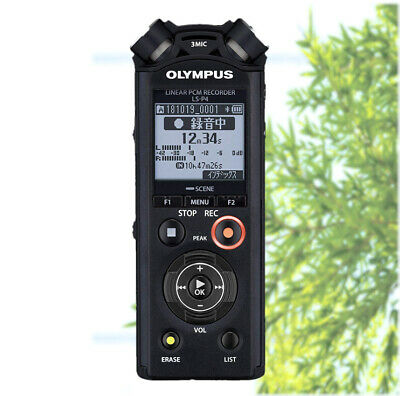 OLYMPUS Linear PCM Recorder LS-P4BLK (BLACK) F/S AIR Tracking from Japan