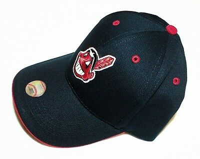 d3cbd2769f2 CLEVELAND INDIANS Chief Wahoo MLB Baseball Hat Adjustable YOUTH LG KIDS SIZE  NWT