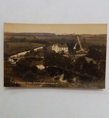 Antique 1920 Real Photo Postcard Birds Eye View of North Dixmont Maine Panorama