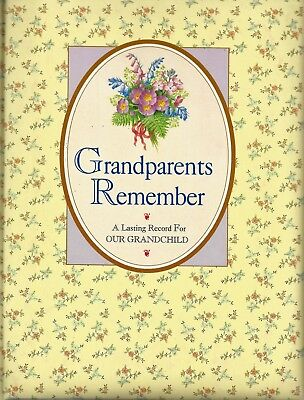 Grandparents Remember  A Lasting Record for Our Grandchild  family tree history