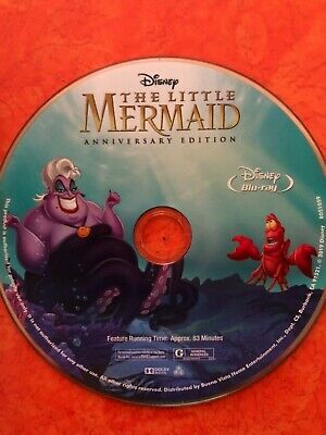 The Little Mermaid Anniversary Edition- Newest Release-Blu-ray disc from 4K set