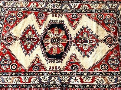 "ANTIQUE 1900s CAUCASIAN HAND KNOTTED WOOL CARPET RUG VERY RARE 71.5"" x 45.5"""