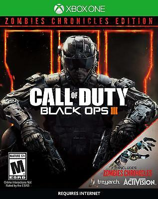 Call Of Duty, Black Ops 3, Zombie Chronicles, Xbox One, Factory Sealed, New!
