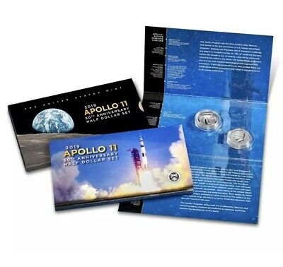 IN STOCK - 2019 S Apollo 11 50th Anniversary Proof Half Dollar Set - SOLD OUT!