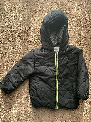 4c1af57d9 BOYS GYMBOREE WINTER Coat NEW Gray Red PUFFER Hood NWT JAcket Size ...