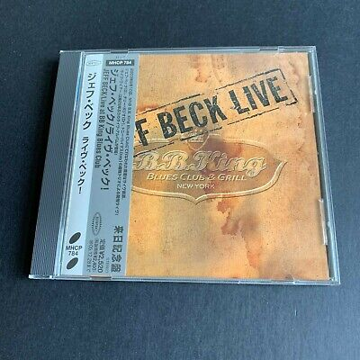 Jeff Beck – Live at BB King Blues Club – CD – Epic – MHCP784 – Japan, 2003