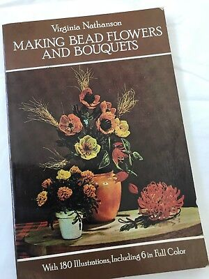 Vintage Wired Seed Bead Flowers Bouquets ~ Pattern Book ~ EUC