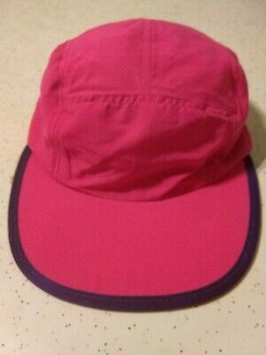 fe0d52e5cf8bc Vintage 5 Panel Patagonia Duck bill cycle Light Red Hat Cap USA Made size M  2d
