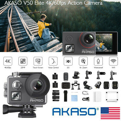 Akaso V50 Elite Native 4K/60fps 20MP Action Camera WiFi EIS Sports DV Camcorders