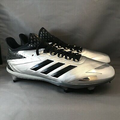 finest selection ec3d6 e0cd9 Adidas Adizero Afterburner 4 Faded Black BY3677 Mens Baseball Cleats Size  11.5
