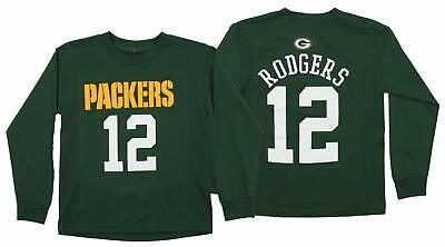 OuterStuff NFL Youth Green Bay Packers Aaron Rodgers  12 Mainliner Tee a9ee2cb71