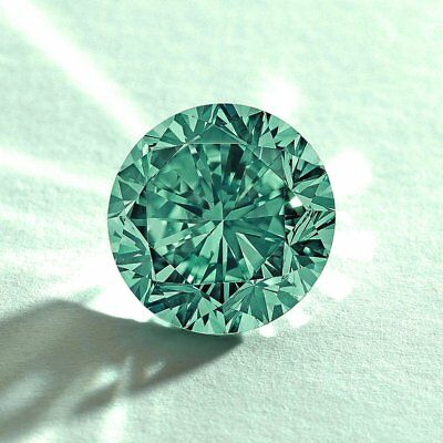 Green Color Loose Moissanite Round Brilliant Cut 5.00 mm TO 9.00 mm For Ring