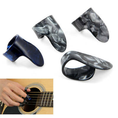 Plastic 1 Thumb+3 Finger Acoustic Nail Celluloid Jim Guitar Picks Medium