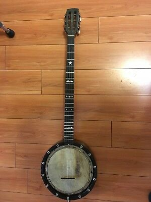 Vintage Late 1800 or Early 1900's English Zither Banjo 5 String by J&H