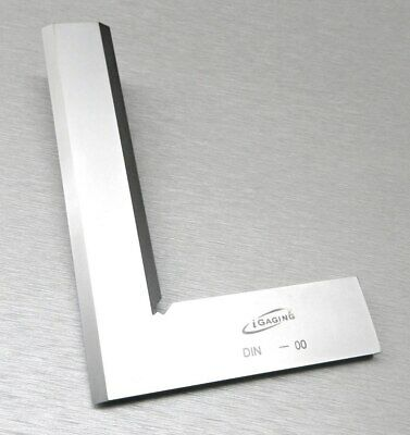 "Square 90º Right Angle Machinist Square Beveled Steel 6"" -150mm Hand Design Tool"