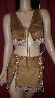 Sexy Indian Native American Princess Costume FREDERICK'S OF HOLLYWOOD Large foh