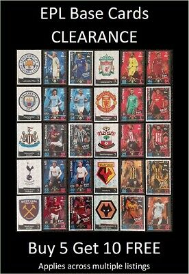 Final Run-Out! Match Attax 2018/19 EPL Base Cards (L to Z) Buy 5 Get 10 FREE