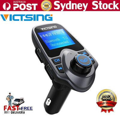 Wireless Bluetooth LCD Car MP3 FM Transmitter Handsfree AUX USB Charger Adapter