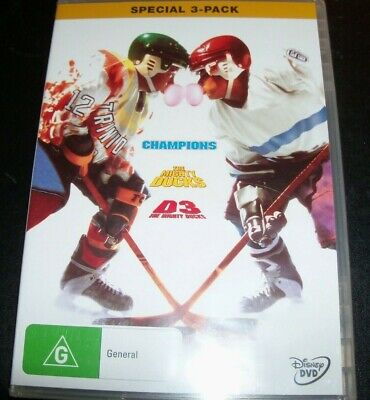 The Mighty Ducks/Champions/D 3 Trilogy (Australia Region 4) Disney 3 DVD - NEW