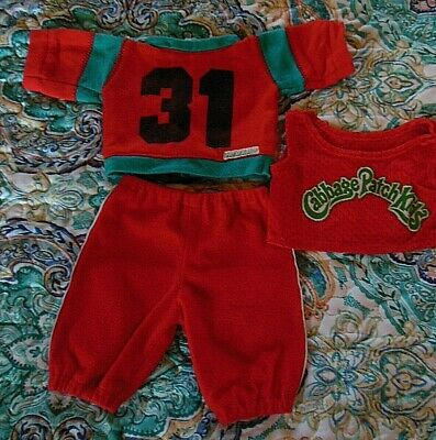Cabbage Patch Kid clothes 17-18 doll Red 3pc sweatsuit tank top 31 55 Vtg UNISEX