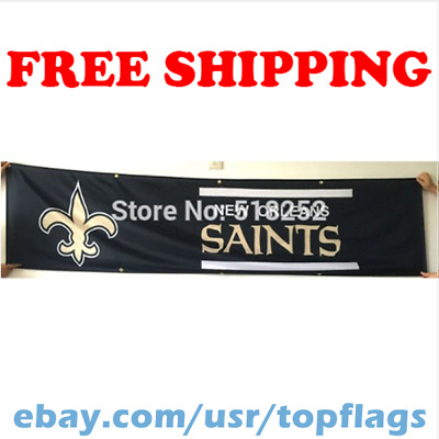 reputable site 268a8 3519e NEW ORLEANS SAINTS 8' X 2' Banner 8 Foot Heavyweight Nylon ...