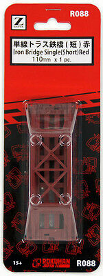 Rokuhan R088 110mm Iron Bridge Single (Short) Red 1pc. (1/220 Z Scale)