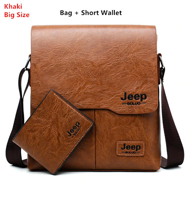 20ef5808e5 Men Tote Bags JEEP Famous New Fashion Man Leather Messenger Bag Male with  wallet