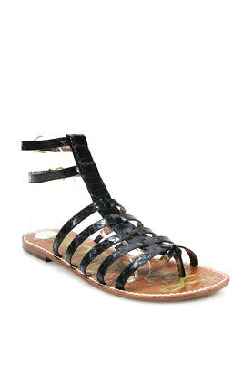 73cd929d8af23f Sam Edelman Womens Gilda Strappy Gladiator Sandals Leather Black Size 9