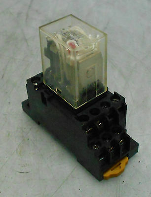 Omron Cube Relay MY4N-D2, With Base, 24 VDC, Used, Warranty