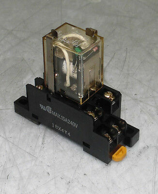 Omron 8 Pin Cube Relay LY2N, 24VDC, W/ Base Unit, Used, Warranty