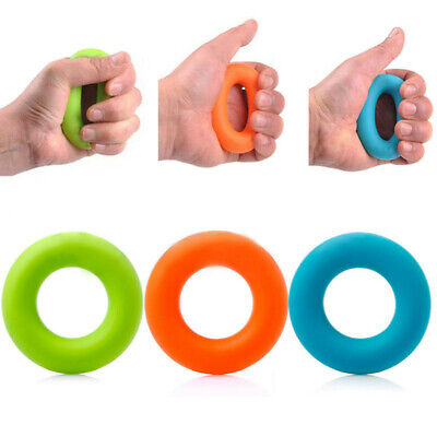 Strength Finger Hand Grip Muscle Power Training Rubber Ring Exerciser Silicone A