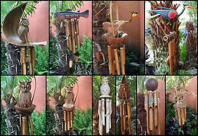 Large Handmade Fair Trade Coconut And Bamboo Wind Chime Mobiles - 6 Designs