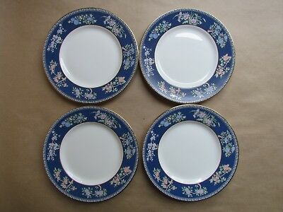 "WEDGWOOD BLUE SIAM FOUR 6"" SIDE PLATES FIRST QUALITY(Ref4159)"
