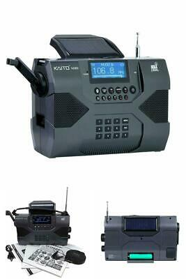 Kaito Emergency Radio Voyager Max KA900 Digital Solar Dynamo Crank Wind Up AM/FM
