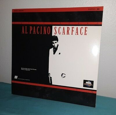 SCARFACE Al Pacino LASERDISC Letterboxed Edition 2-Disc Set